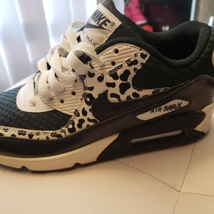 Nike Air Max 90 GS Black White Snakeskin Cheetah -